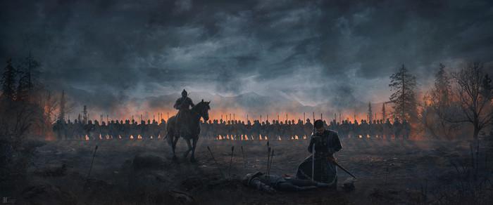 Павшие Арт, Рисунок, Воин, Рыцарь, Павшие