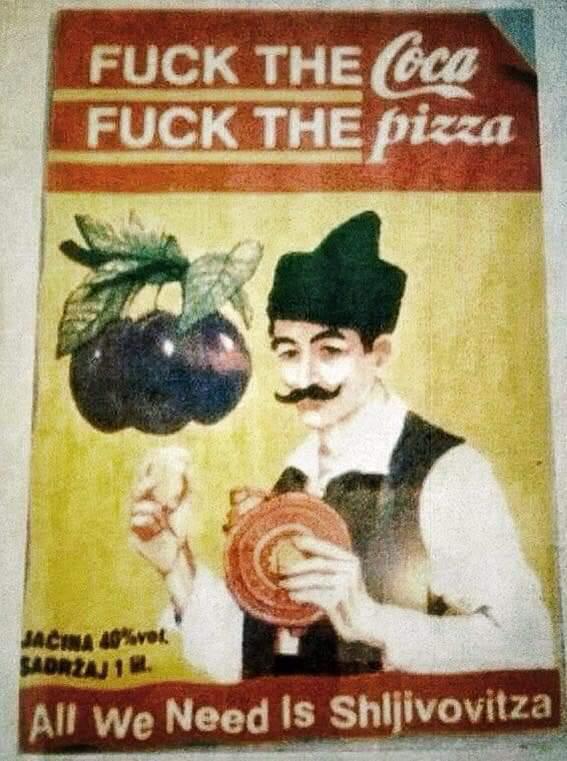 Поддерживаю Coca-Cola, Пицца, Сливовица