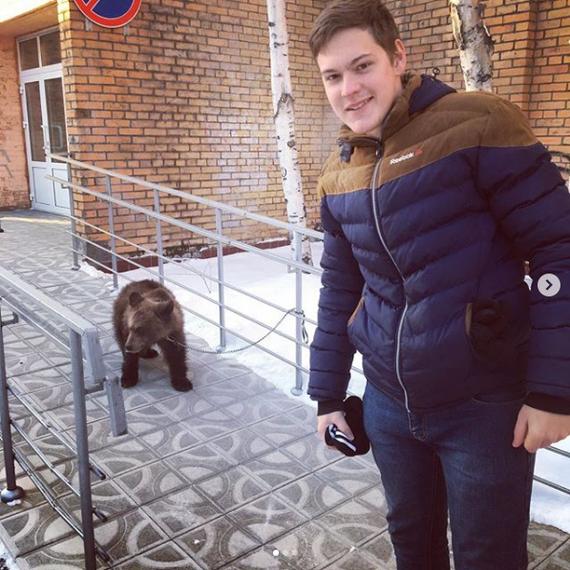 Везде у магазина собак привязывают, а в Тынде вот... Медведь, Instagram, Тында