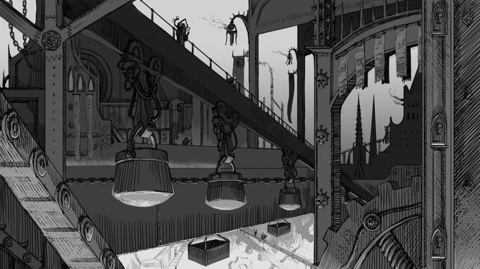 Кузница Механикус (by Wolk Risovalshik) Warhammer 40k, Adeptus Mechanicus, Wolk Risovalshik, Imperium, Warhammer, Картинки, Арт