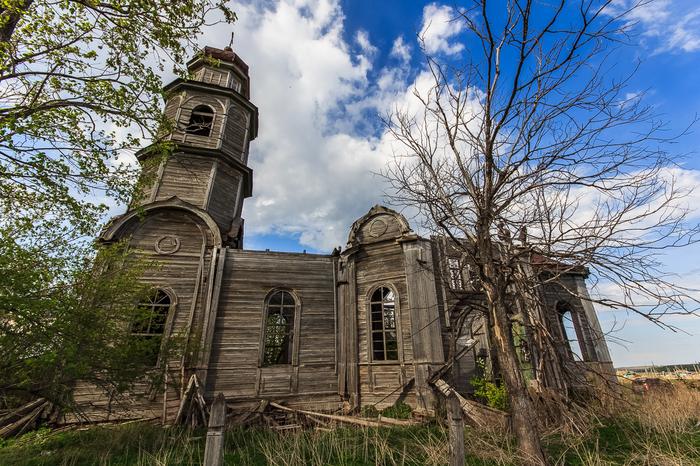 Заброшенная деревянная церковь в Кашинке Урбанфото, Урбанфакт, Церковь, Заброшенное, Длиннопост