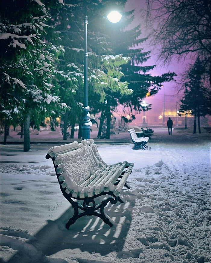 Вечер в парке им. Дзержинского. Омск. (Андрей Кудрявцев)
