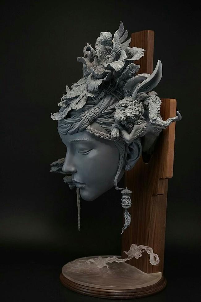Китайский скульптор и его персиковый источник Скульптура, Искусство, Поэма, Азиаты, Длиннопост