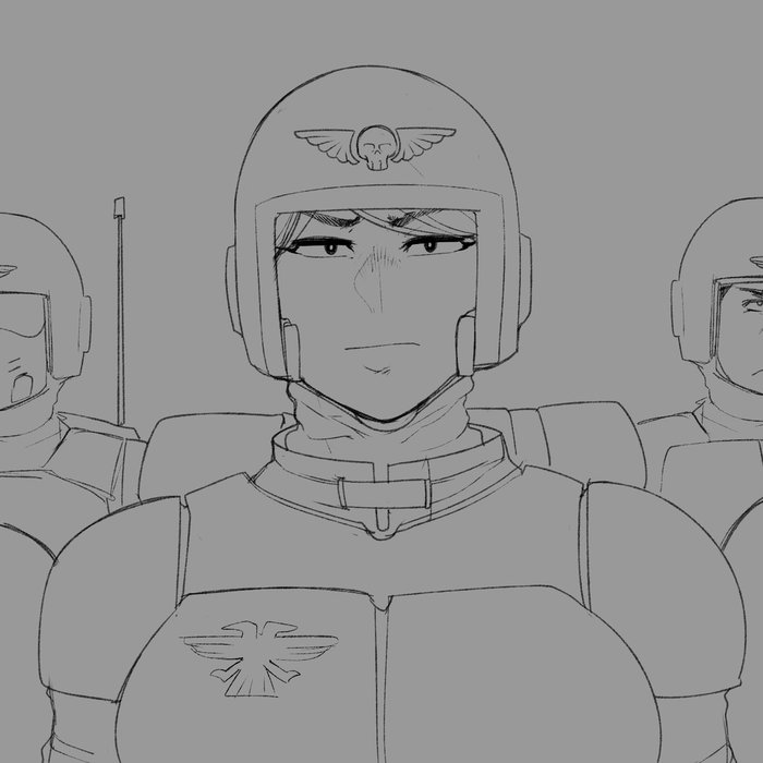 """old oc , her name is zanja and she is part of an imperial guardbasically her story here and she is now a commissar!"" Krekk0v, Имперская гвардия, Комиссар, Warhammer 40k, Арт, WH Art, WH other, Длиннопост"