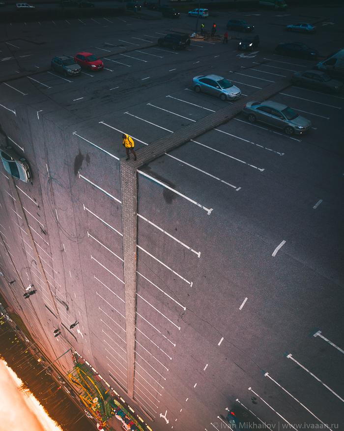 Мужики, парковку погнуло Аэрофотосъемка, DJI Mavic Air, Фотошоп мастер