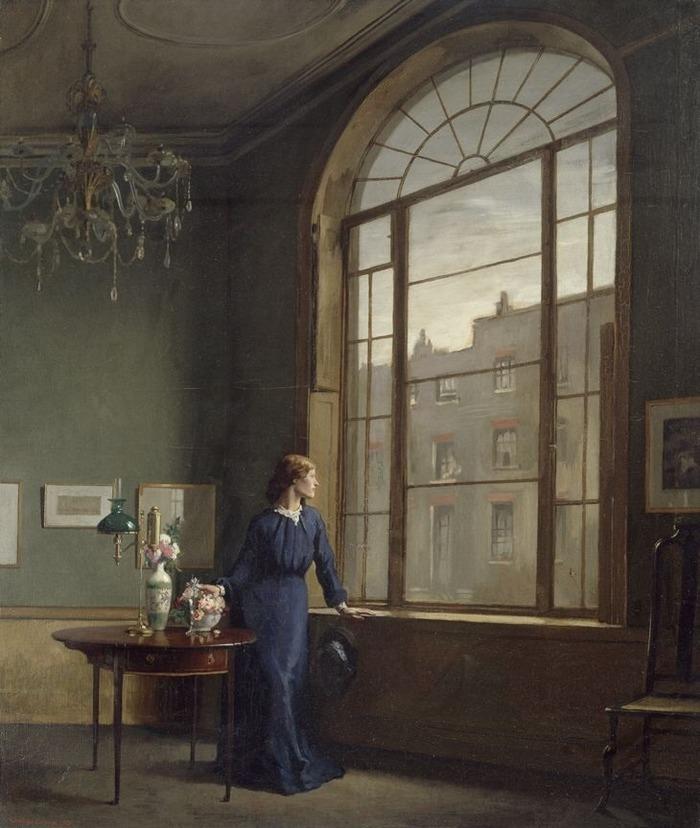 "Вильям Орпен. ""Окно на улице Лондона"", 1901 год."