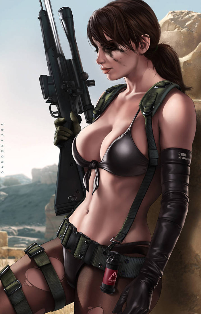 Quiet Арт, Metal Gear Solid, Quiet, Dandonfuga, Сиськи