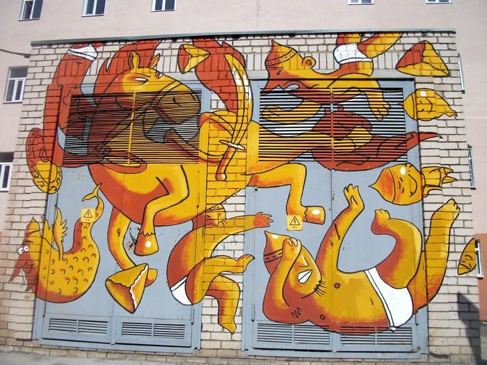 Граффити (так же как и стрит-арт) должны украшать стены, а не уродовать их #80 Уличная живопись, Стрит-Арт, Граффити, Казань, Фотография, Длиннопост