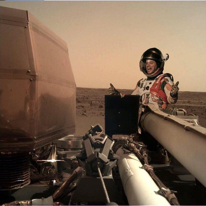 Получена первая фотография с аппарата InSight