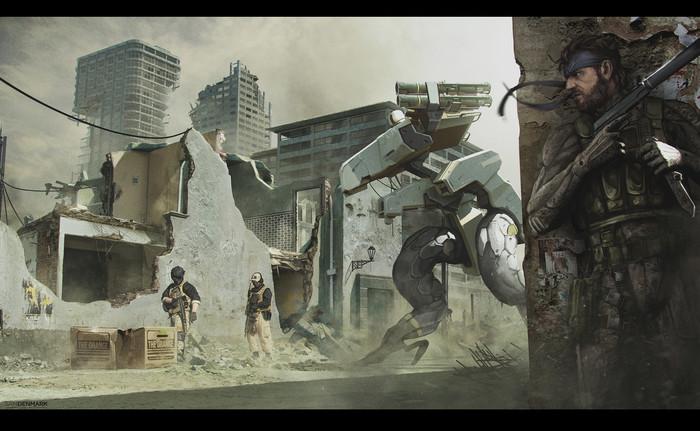 Sam Denmark Artwork Арт, Metal Gear, Sam Denmark, Фанатский арт