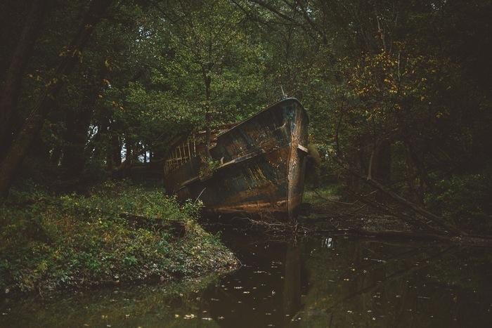 Заброшенный корабль Заброшенное, Корабль, Корабль-Призрак, Фотография, Reddit, Из сети