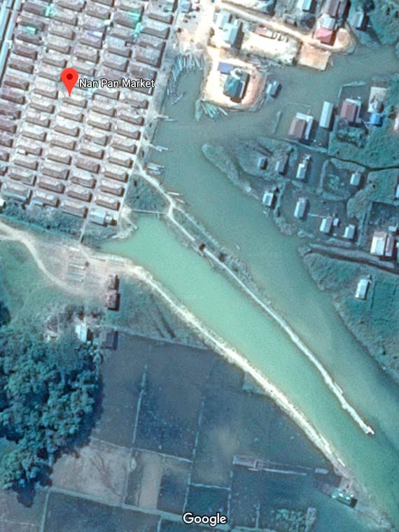 Базарный день в Нам Пане Бирма, Мьянма, Рынок, Озеро, Ракурс, Таймлапс, Дрон, Видео, Гифка, Длиннопост