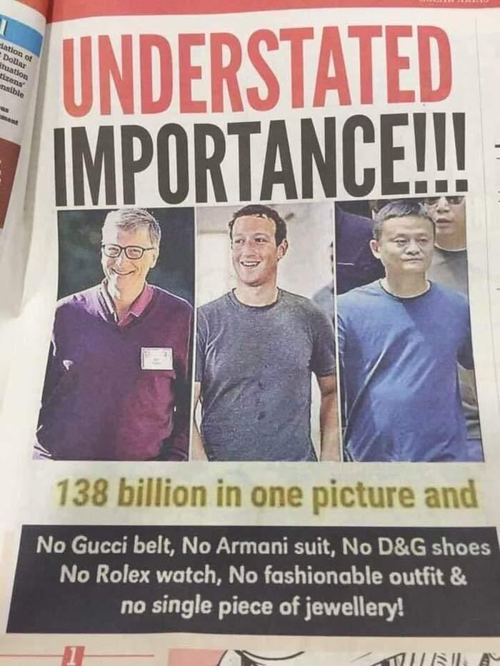 138 миллиардов на одной фотографии... Миллиардеры, Богатство, Одежда