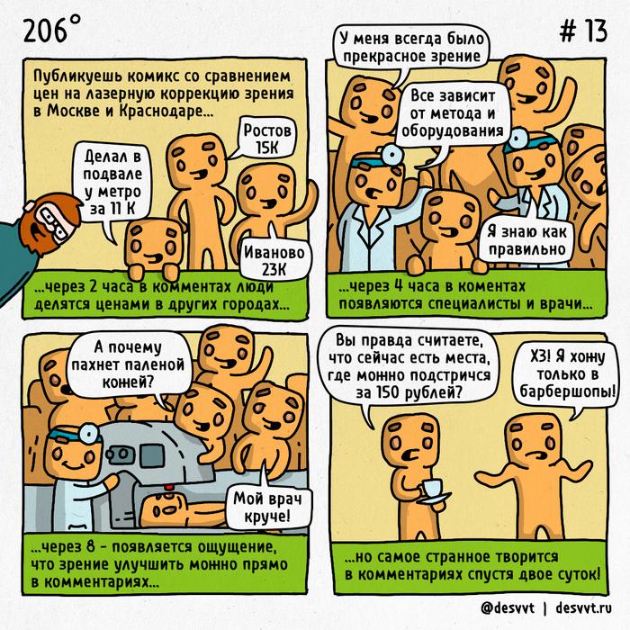 206° #13 Про комментарии на Пикабу 206, Комментарии на Пикабу, Комментаторы, Лазерная коррекция, Офтальмолог, Сила Пикабу