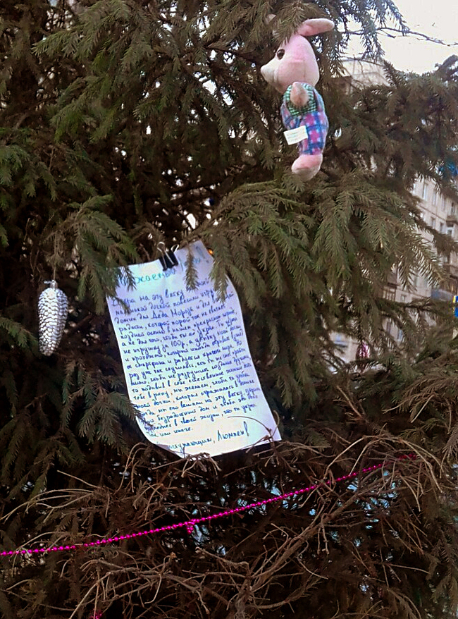 Записка на ёлке. Новогодняя елка, Санкт-Петербург, Записка, Длиннопост
