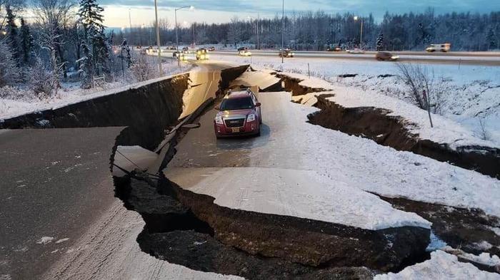 Землетрясение на Аляске Аляска, Землетрясение, США, Видео