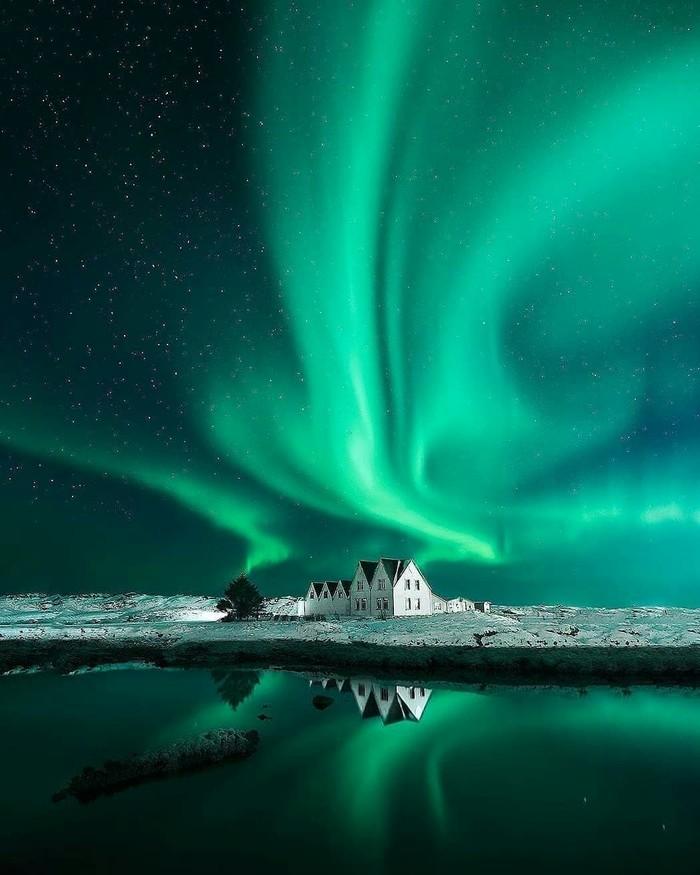 Сезон сияний в Исландии.