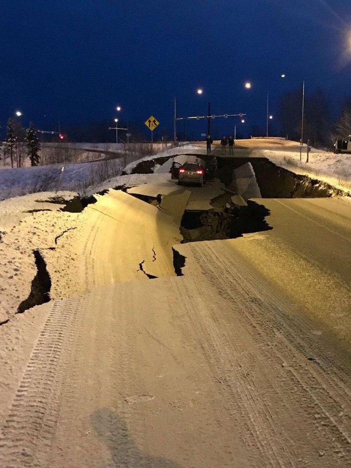 О везении во время землетрясения Землетрясение, Авто, Везение, Аляска
