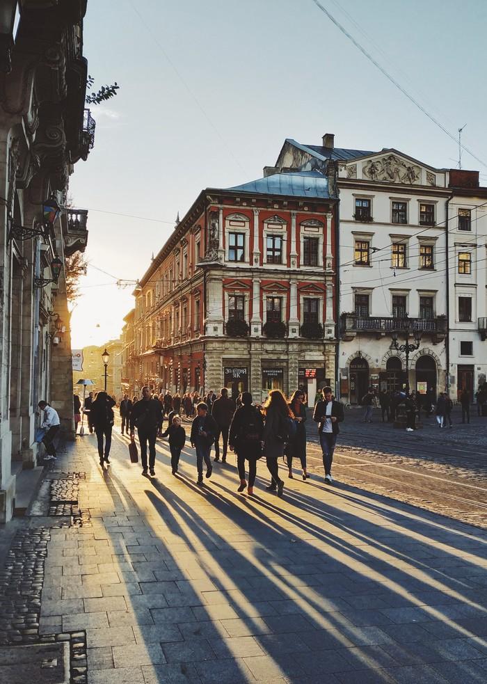 На исходе дня Мобильная фотография, Закат, Улица, Хочу критики, Львов