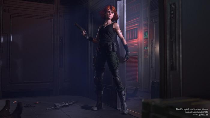 Мэрил Metal Gear Solid, Meryl Silverburgh, Saman mahmoudi, Арт, Игры