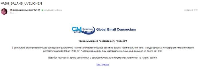 Опять мошенники Интернет-Мошенники, Почта, Спам