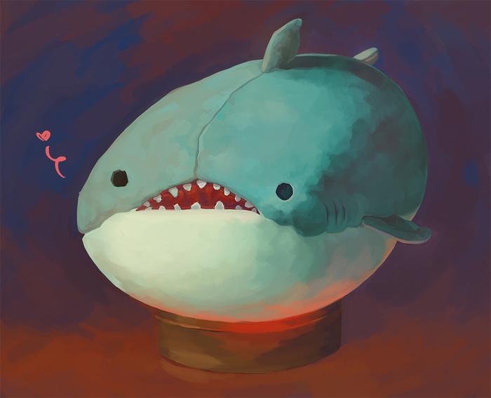Плюшевая акула с натуры :3