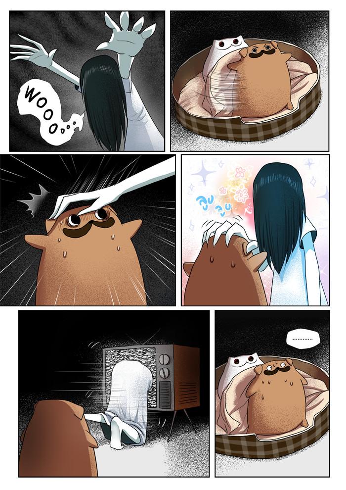 Милота спасёт мир! Meawbin, Кот, Creepy Cat, Длиннопост, Собака, Мопс, Звонок, Комиксы