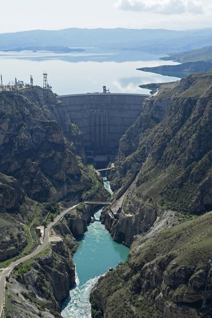 Сулакский каньон, Чиркейская ГЭС Фотография, Красота природы, Дагестан, Россия