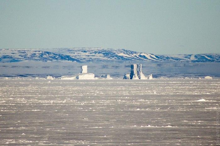 Ещё про миражи на севере Мираж, Фотография, Арктика, Работа, Ледокол, Северная Земля, Экспедиция, Интересное, Длиннопост