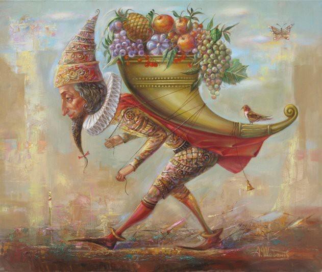 Рог изобилия Искусство, Живопись, Шабанов, Рог изобилия, Фрукты, Картина маслом, Картина, Масло
