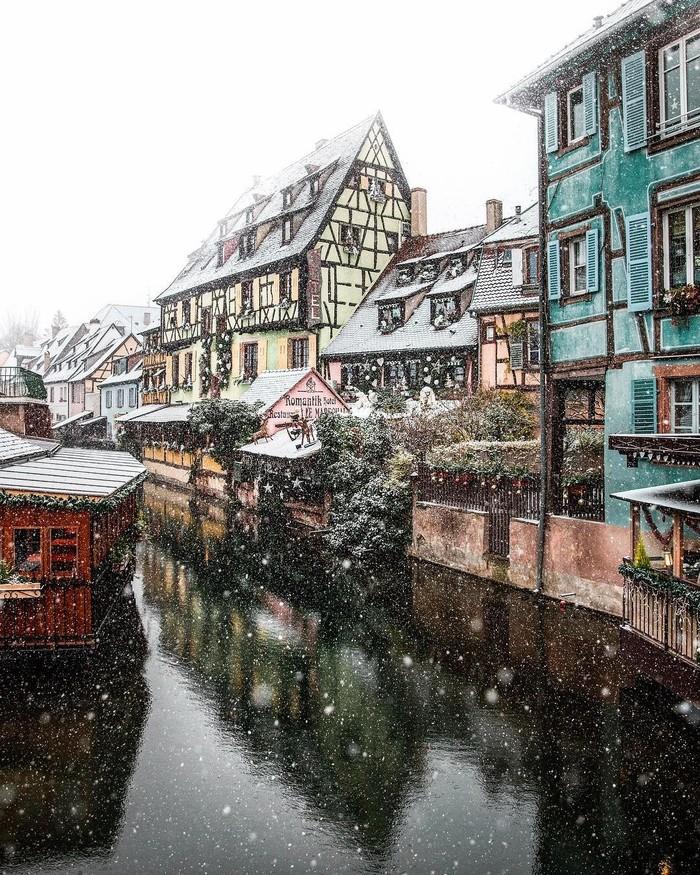 Праздничная Европа Снег, Зима, Улица, Красота, Фотография, Длиннопост