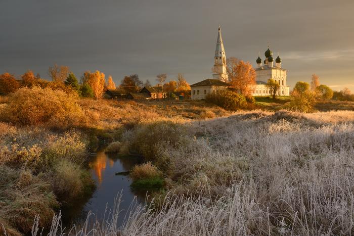 Село Осенево. Фотография, Пейзаж, Осень, Зима, Село, Ярославская область