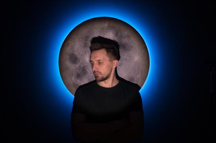 Светильник-ночник«Луна», RGB Луна, Светильник, Ночник, Лампа, RGB, Длиннопост, Рукоделие без процесса