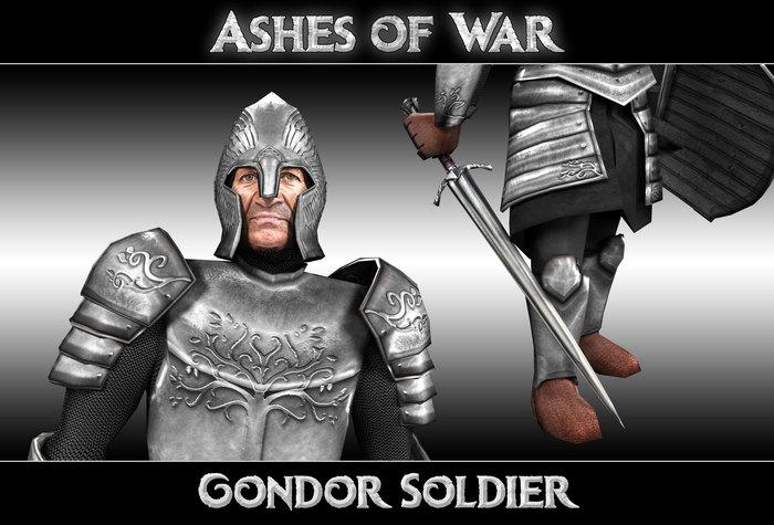 BFME2: Ashes of War - финальная версия солдат Гондора Ashes of War, BFME Modding, Моды, Стратегия, Властелин колец, Компьютерная графика, Tlhotta, Толкин, Длиннопост