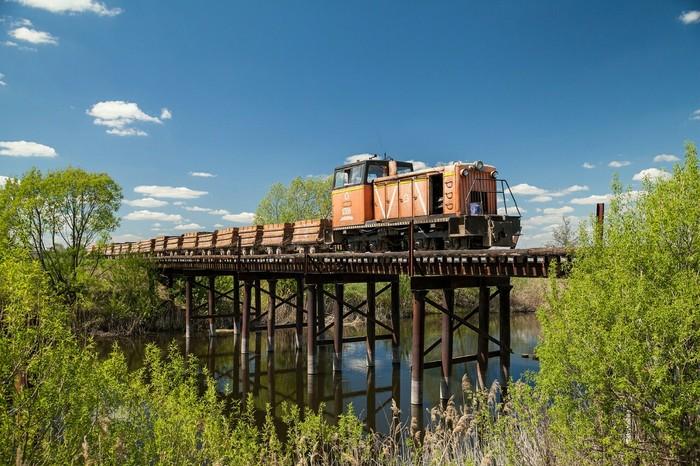 Узкоколейный мост Железная Дорога, Узкоколейка, Мост, Фотография