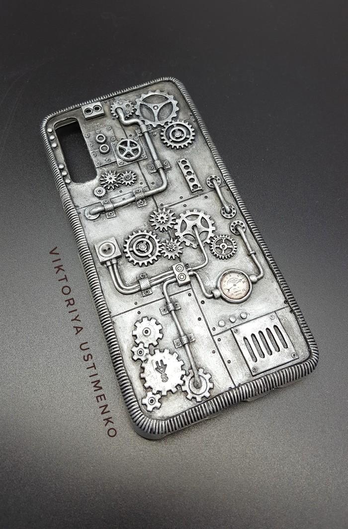 Освоение новых предметов Творчество, Ручная работа, Полимерная глина, Стимпанк, Чехол для телефона, Длиннопост