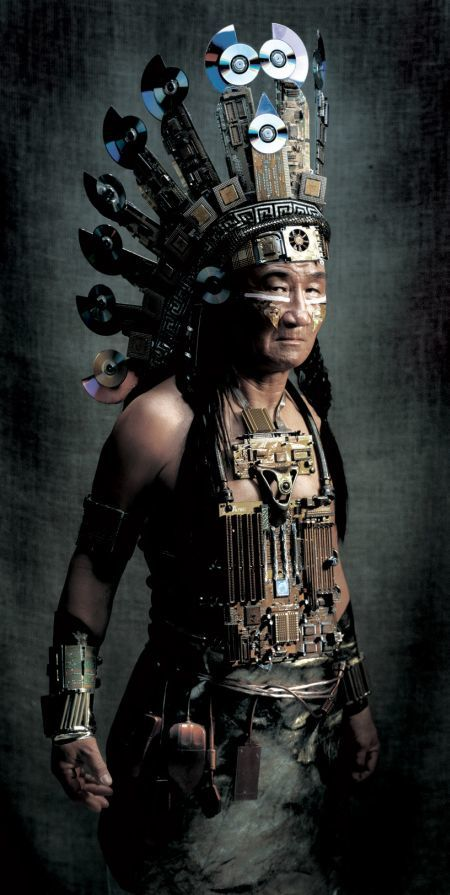 Техноиндейцы Железо, Индейцы, Техника, Айтишное, Старое фото, Одежда, Длиннопост