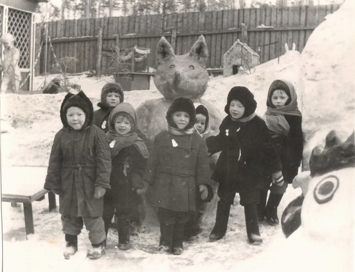 Детский сад начала 1960-х. Детский сад, Ретро фото, Сканирование пленки, Воспоминания из детства, Длиннопост