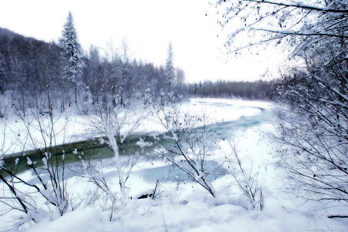 Зима на Байкале, река Утулик Байкал, Утулик, Фотография, Пейзаж, Зима, Река, Снег, Длиннопост