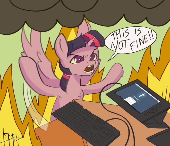 Это нифига не нормально. My Little Pony, Twilight Sparkle, Tumblr, Rip