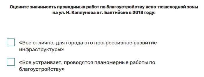 Опрос от министерства по муниципальному развитию Калиниградской области Балтийск, Чиновники, Развитие, Опрос