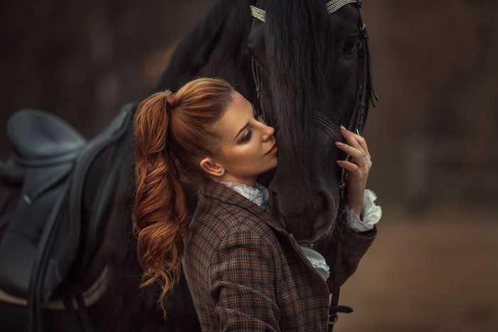 Девушка с лошадью Красота, Девушки, Животные, Лошадь, Лес, Фотография