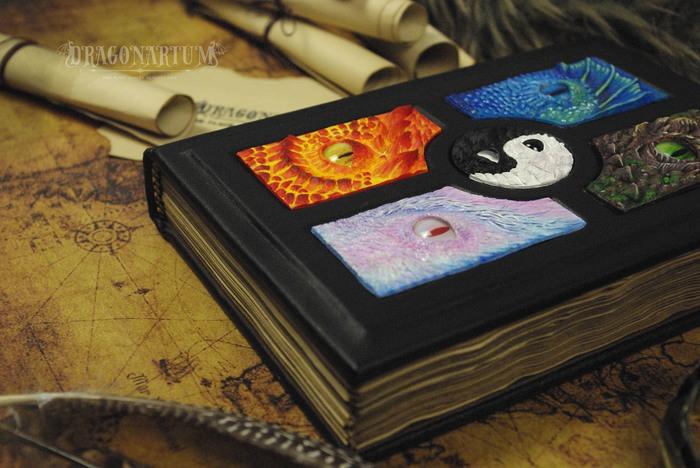 Книга с драконами-элементалями. Дракон, Полимерная глина, Книги, Своими руками, Рукоделие без процесса, Скульптура, Длиннопост
