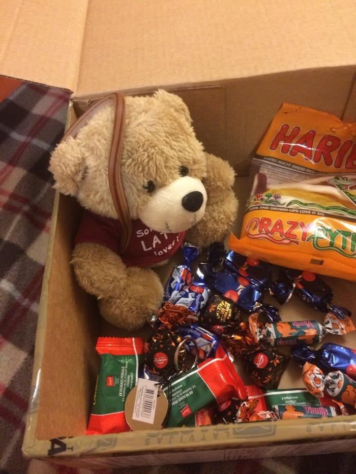 Вот и наши подарочки тоже приехали ^_^ Отчет по обмену подарками, Тайный Санта, Дед Мороз, Новый Год, Змея, Плюшевый медведь, Латвия, Latvija, Длиннопост