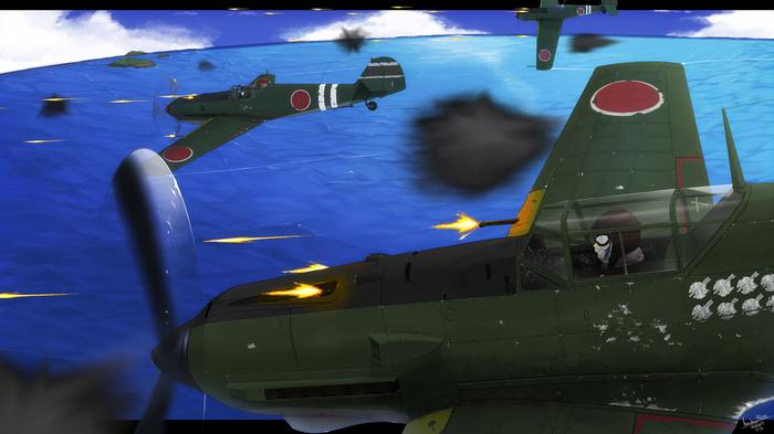 Авиация (художник: Harumiya1988) Kantai Collection, Аниме, Anime Art, Fairy, u-511, Prinz Eugen, Авиация, Длиннопост