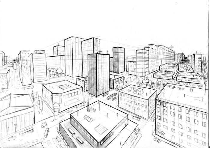 Сделал первый небольшой туториал по рисованию города) Рисование, Уроки рисования, Учусь рисовать, Перспектива, Скетч, Город, Городские пейзажи, Видео, Туториал
