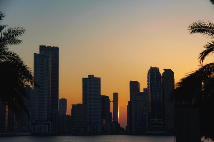 Освещение неба при заходе солнца Фотография, Canon 60D, Lightroom