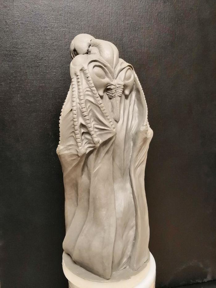 """Статуэтка по манге """"Берсерк"""".Фемто. Скульптура, Берсерк, Лепка, Пластилин, Статуэтка, Манга, Аниме, CrazySculptor, Длиннопост"""