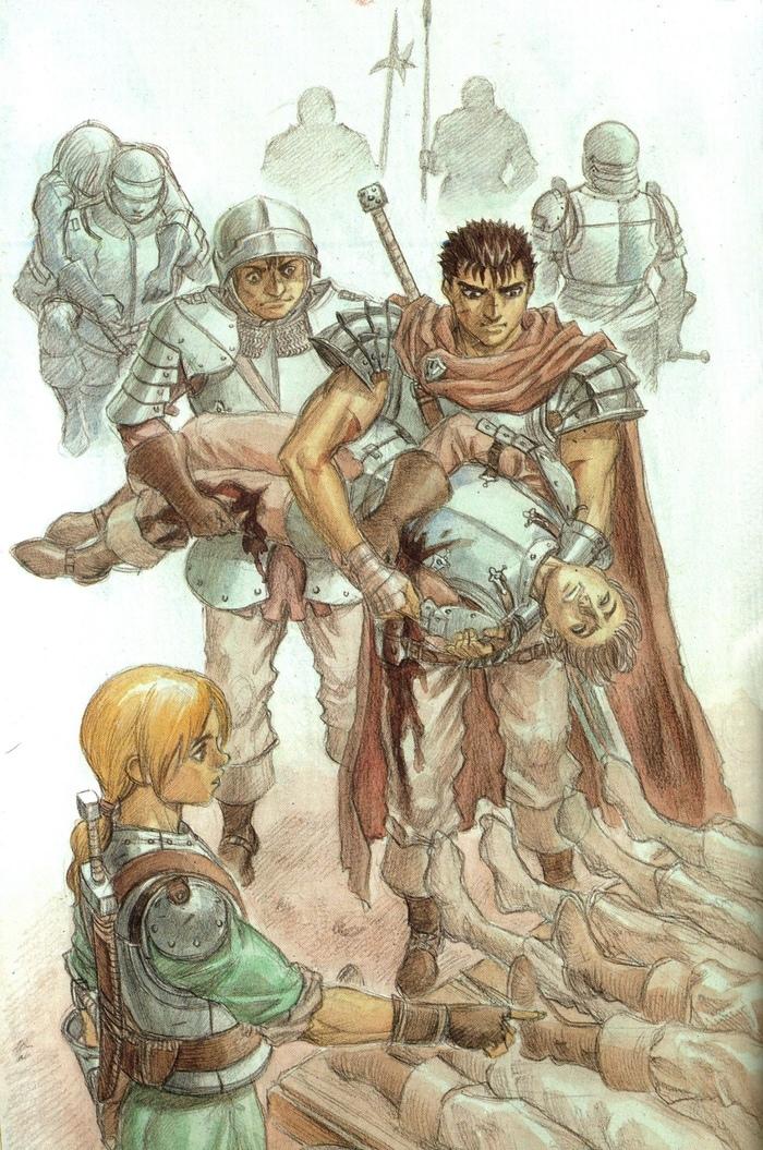 The Golden Age Берсерк, Anime Art, Аниме, Манга, Арт, Рисунок, Длиннопост