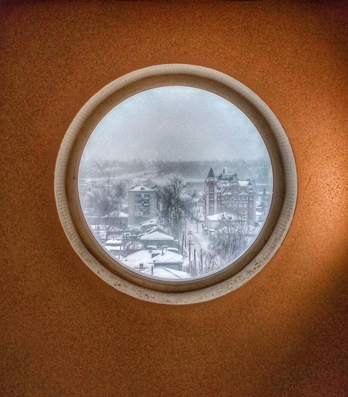 Окно в зиму Окно, Зима, Вид из окна, Мобильная фотография
